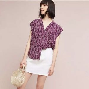 Anthropologie small Maeve Raffine blouse in Plum